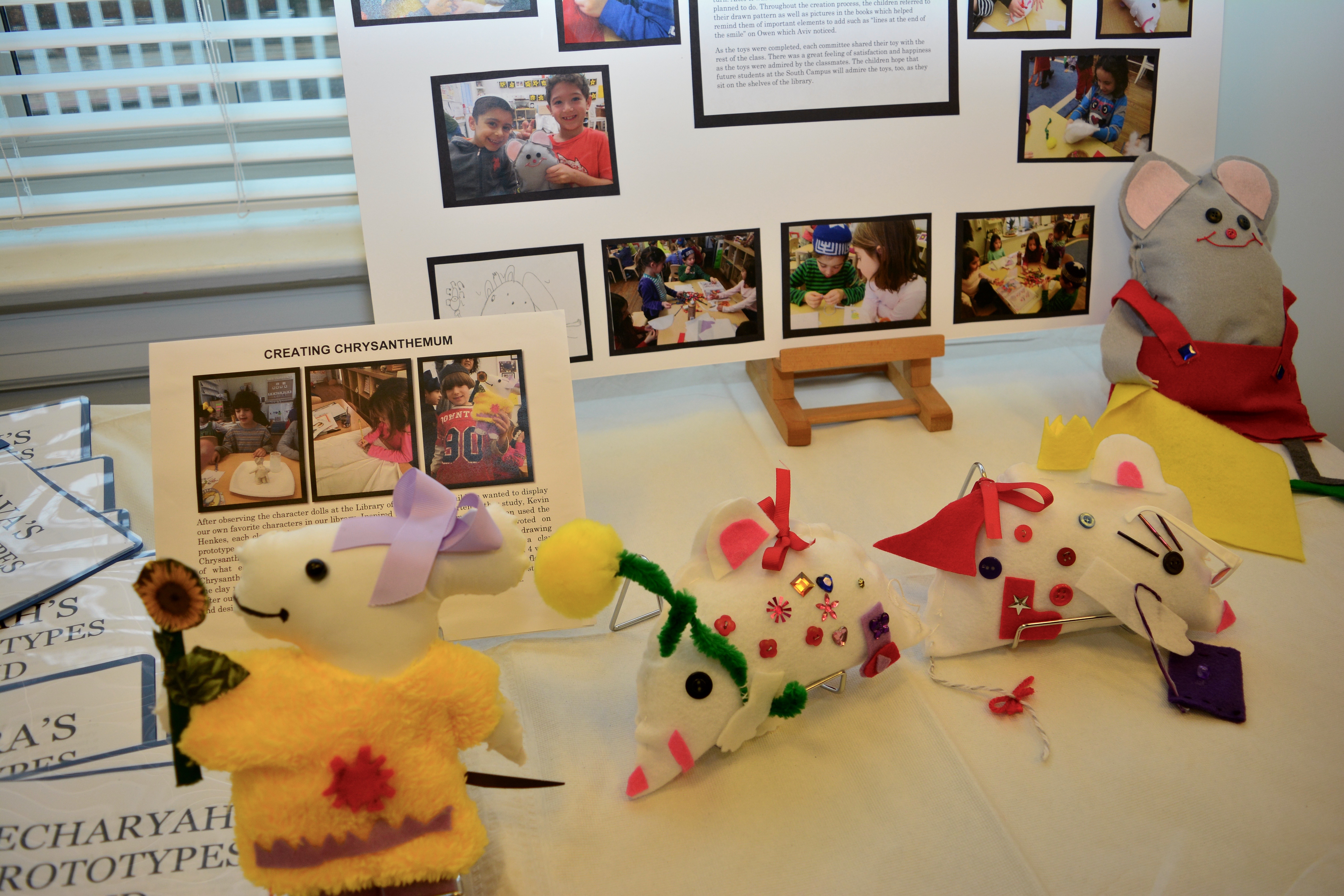 Hand-crafted toys of favorite book characters help decorate the new South Campus Community Library.