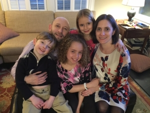 Middle School Swing Space Committee Co-Chair Evan Goldman and his family.