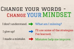 change your words change your mindset instead of saying i don
